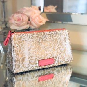 Victoria Secret Pink & Gold Leopard Cosmetic Bag